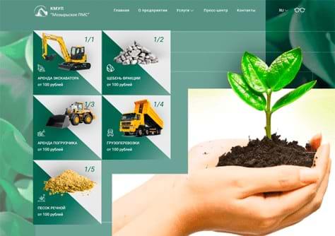 Сайт государственной организации